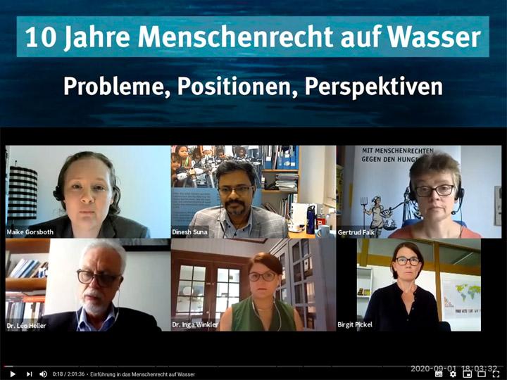 Online-Podiumsdiskussion: 10 Jahre Menschenrecht auf Wasser