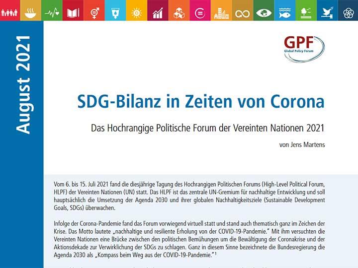 SDG-Bilanz in Zeiten von Corona