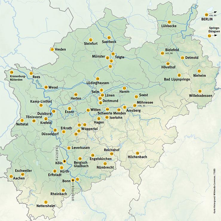 NRW-Karte BNE-Akteure
