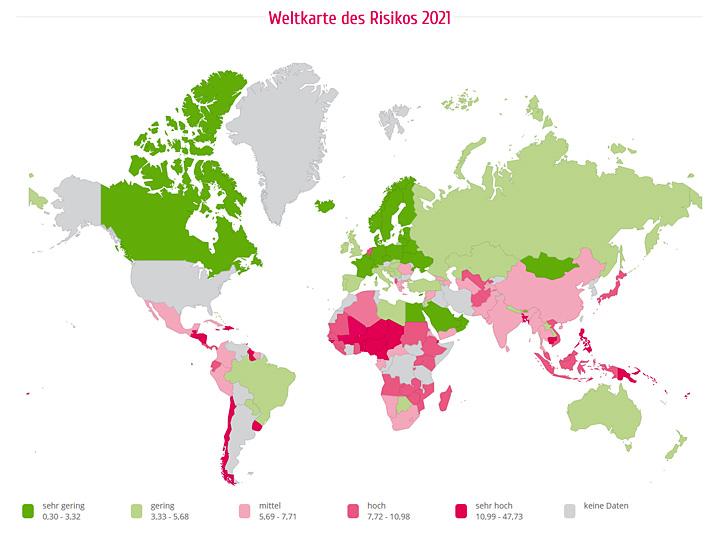 Weltkarte des Risikos